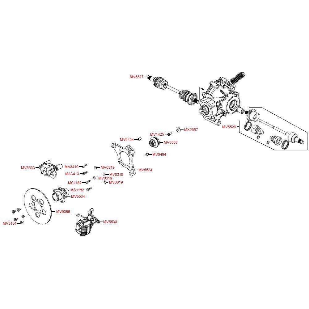 F18 Zadní brzda - Kymco MXU 500 IRS DX LAA0DD