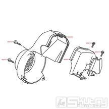 E01 Kryt válce / kryt ventilátoru - Kymco DJ 50
