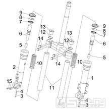 4.03 Přední kyvná vidlice (Kayaba) - Gilera Runner 200 ST 4T LC 2008-2011 (ZAPM46401)