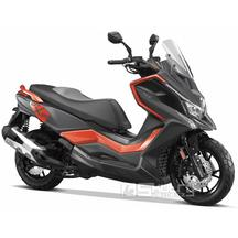 Kymco DT X360 350i ABS E5 - barva oranžová/černá