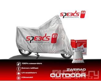 Venkovní krycí plachta Speeds velikost L pro motocykly a skútry - velká 244 x 90 x 117cm