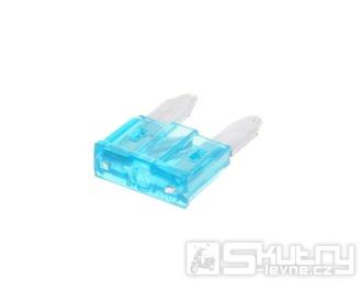 Nožová pojistka 11,1mm - 15A modrá