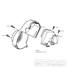E01 Kryt motoru - Kymco Fever 2 50 ZXII Super Fever