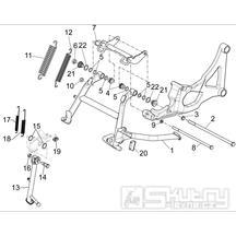 2.25 Hlavní a boční stojan - Gilera GP 800 2009-2011 (ZAPM5510...)