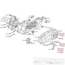E01 Skříň klikové hřídele - Kymco Xciting 300i R [SB60AB]