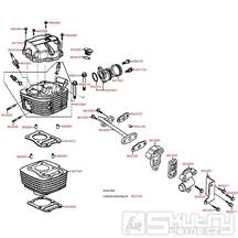 E01 Válec, hlava a ventilové víko - Kymco STRYKER 125 II [DA25BB]