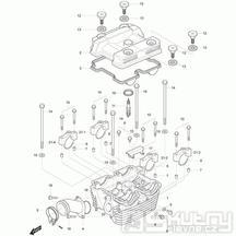 01h Hlava válce zadní - Hyosung GT 125 N E3 (Naked)