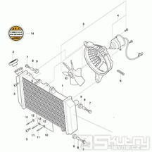 03 Chladič / Ventilátor - Hyosung GT 650 R TTC