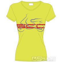 Dámské tričko Scooter Club Olomouc - barva zeleno-žlutá - velikost XS