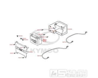 F11 Baterka a kastlík baterky - Kymco Grand Dink 125i SP25AA