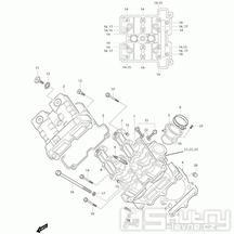 01v Hlava válce přední - Hyosung GT 650i R