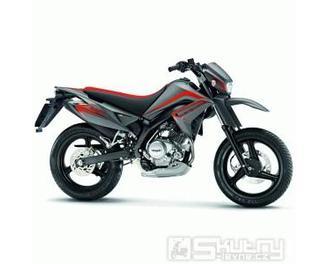 Malaguti X3M Supermoto 125 ccm - barva titanová