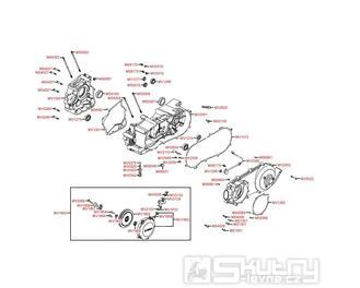 E01 Kliková skříň / Kryt variátoru - Kymco MXU 250 S
