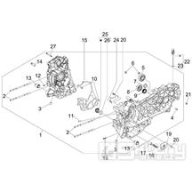 1.05 Skříň klikové hřídele - Gilera Nexus 125ie 4T LC 2009 (ZAPM35700)