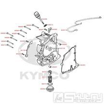 E04 Kryt motoru pravý - Kymco DJ 125 S KN25GA