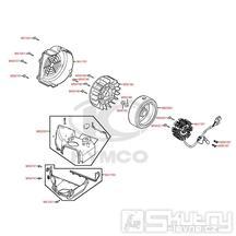 E08 Magneto dobíjení - Kymco DJ 125 S KN25GA