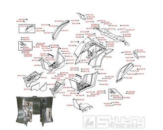 F12 Zadní kapotáž - Kymco MXU 500 IRS DX LAA0DD