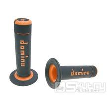 Gripy Domino A020 Off-Road v černo-oranžovém provedení o délce 118mm
