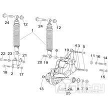 4.10 Zadní tlumič - Gilera Nexus 250 SP 4T LC 2006-2007 (ZAPM35300)