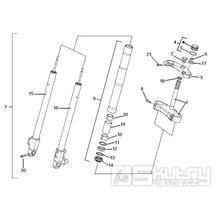 4.02 Tyč řízení, tlumiče - Gilera SC 125 2006 (6H332629, VTHGS1A1A, VTHGS1A1B)