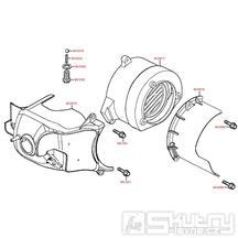 E01 Kryt válce / kryt ventilátoru - Kymco MXU 50