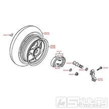 F08 Zadní kolo s brzdou - Kymco Vitality 50 2T