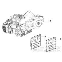 1.02 Motor, těsnění motoru - Gilera Runner 125 VX 4T Speciální série 2007 (ZAPM46300)