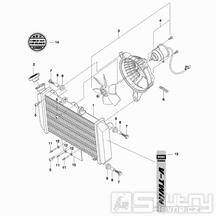 03 Vodní chladič / Ventilátor - Hyosung GT 650 N (Naked)