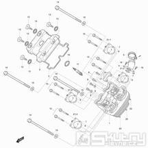 01v Hlava válce přední - Hyosung GT 125 R E3