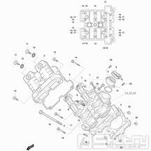 01v Hlava válce přední - Hyosung GT 650 R TTC