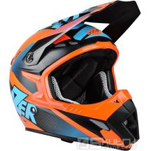 Off-road přilba Lazer MX8 X-Team Pure Carbon - Black carbon/Blue/Orange/Matt