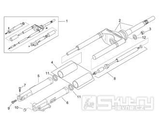 28.03 Přední vidlice - Scarabeo 100 2T (motor Minarelli) 2000 - ZD4REA...