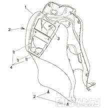 28.08 Přední kapotáž - Scarabeo 100 2T (motor Minarelli) 2000 - ZD4REA...