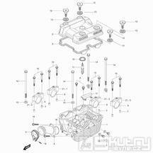 01h Hlava válce zadní - Hyosung GV 125 Aquila