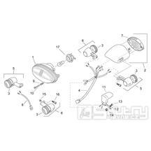 28.30 Přední světlo, přední blinkry - Scarabeo 50 2T (motor Minarelli) 1998 - ZD4PF00/1/2/3, ZD4PFA/B/C/D/E