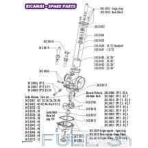 Těsnění výpustného šroubu  plovákové komory karburátoru  Polini CP