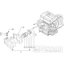 1.07 Válec a píst -  Gilera Fuoco 500ccm E3 2007-2013 (ZAPM61100...)
