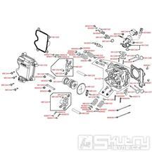 E02 Hlava válce a kryt ventilů - Kymco Movie S 125i SR25BA