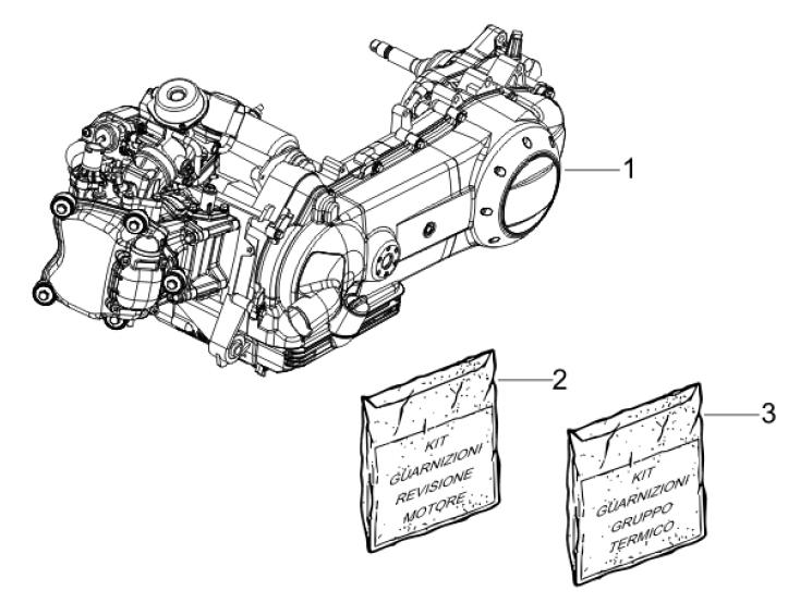 1.02 Motor, těsnění motoru - Gilera Runner 125 VX 4T Race 2006 UK (ZAPM46300)