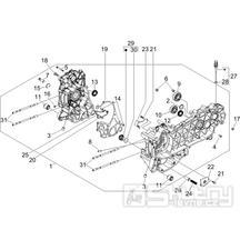 1.05 Skříň klikové hřídele - Gilera Runner 200 ST 4T LC 2008-2011 (ZAPM46401)