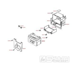 Baterie a kryt baterie -  Kymco NEWSento 50i SE10BC