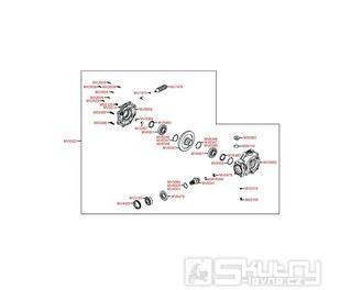 F16 Zadní kardan - Kymco MXU 500 IRS DX LOF LAA0ED