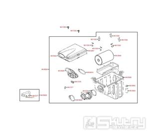 F13 Vzduchový filtr - Kymco MXU 500 IRS DX LOF LAA0ED