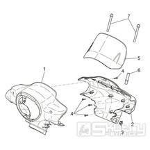 28.05 Kapotáž předního světla - Scarabeo 100 4T E3 2010-2012 (ZD4VAA00..., ZD4VAC00...)
