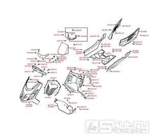 F05 Přední kapotáž a podlaha - Kymco Yager GT 200i