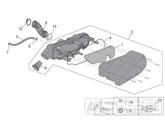 29.16 Airbox vzduchového filtru - Scarabeo 50 4T 4V E2 2009 (ZD4TGE00)
