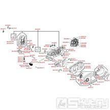 E01 Skříň klikové hřídele - Kymco Xciting 500i [AFI]