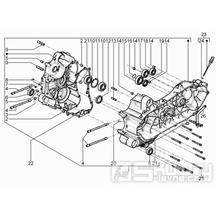 1.05 Skříň klikové hřídele - Gilera Fuoco 500ccm 4T-4V ie E3 LT od 2013 (ZAPM83100...)