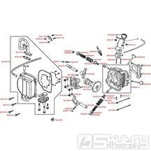 E02 Hlava válce / Ventilový rozvod - Kymco Agility 50 Carry 4T KG10DA