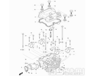 01h Hlava válce zadní - Hyosung GT 125 R E3